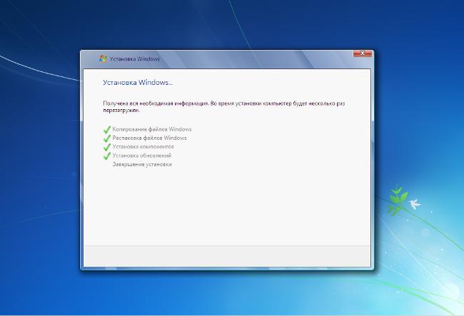 Переустановка Windows 7 с диска