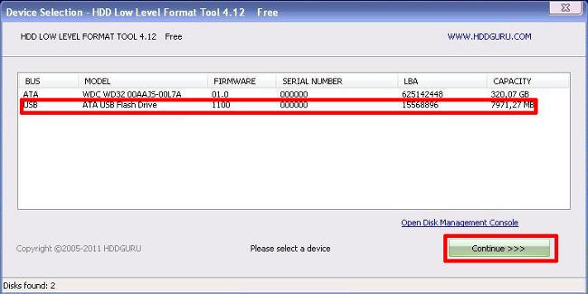 форматирование флешки в FAT32