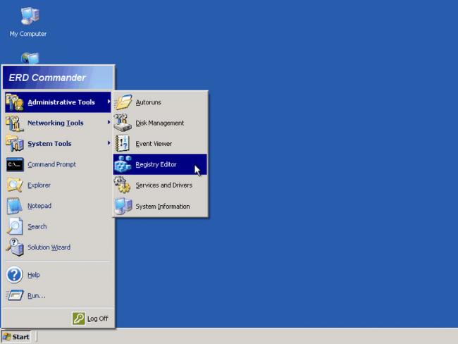 После правки реестра снова загрузите Windows - скорее всего, баннера