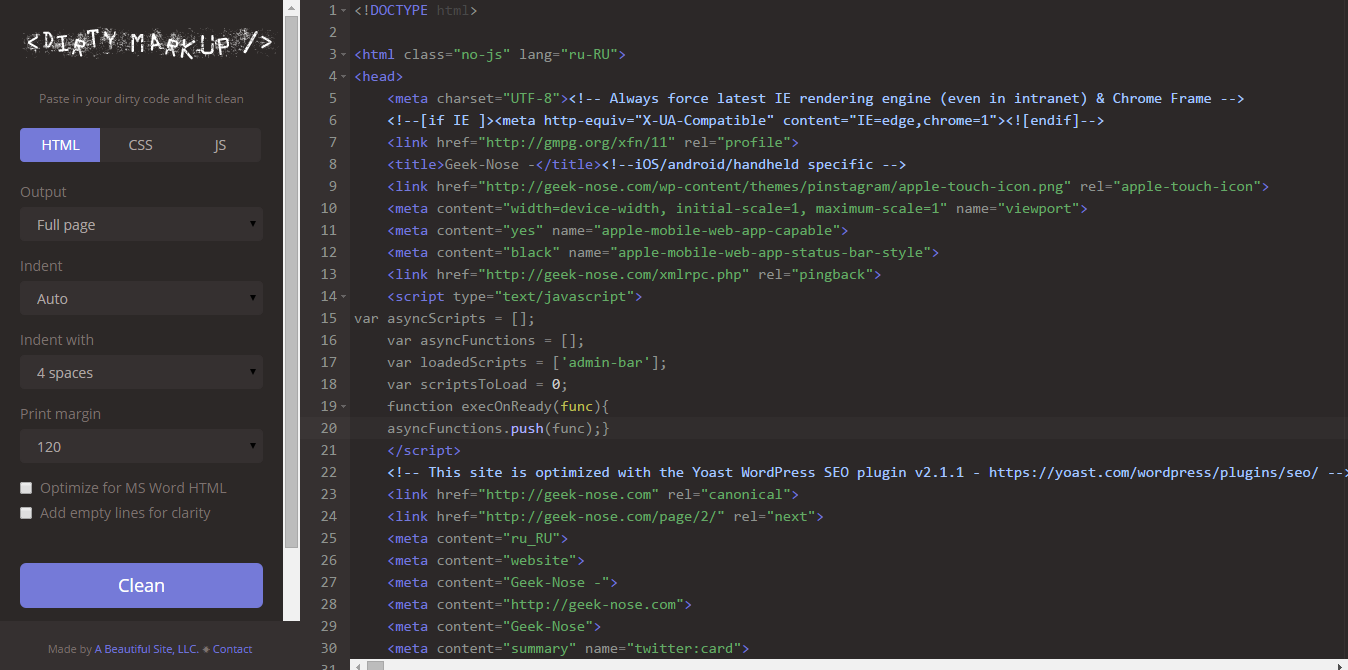 html-редактор онлайн