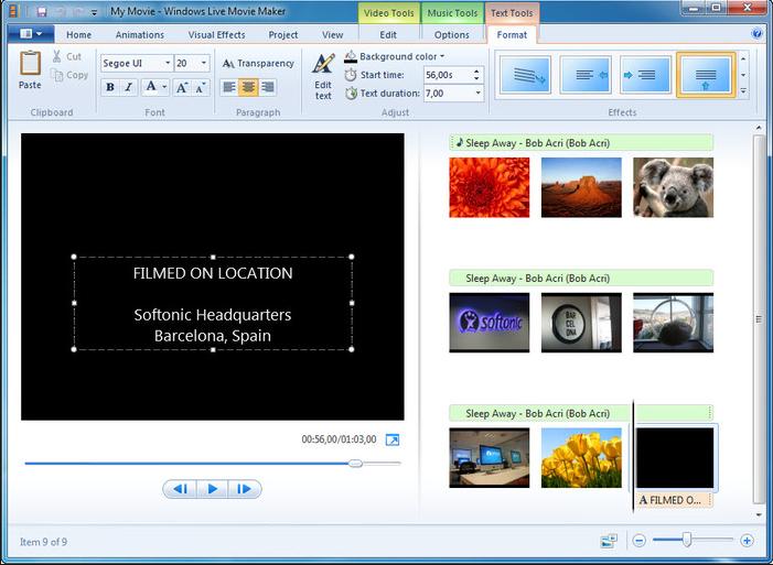 Видео для 7 монтировать программа windows