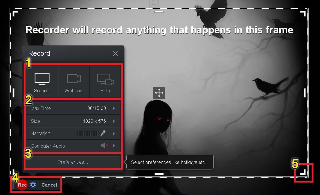 запись видео с экрана компьютера
