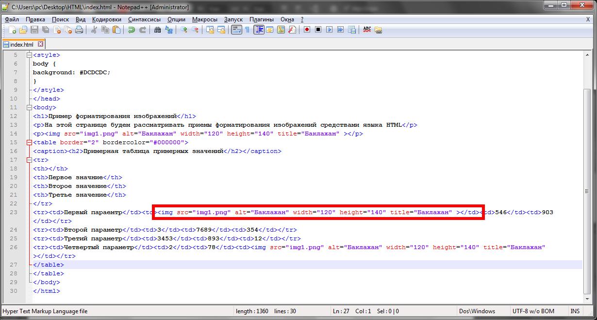 как вставить изображение в html