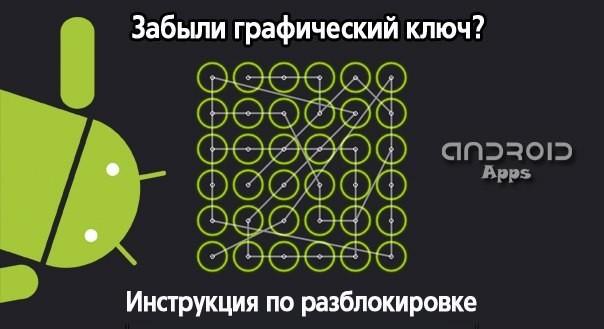 как разблокировать планшет если забыл графический ключ