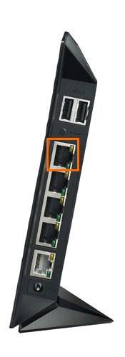 Подключить при помощи LAN кабеля