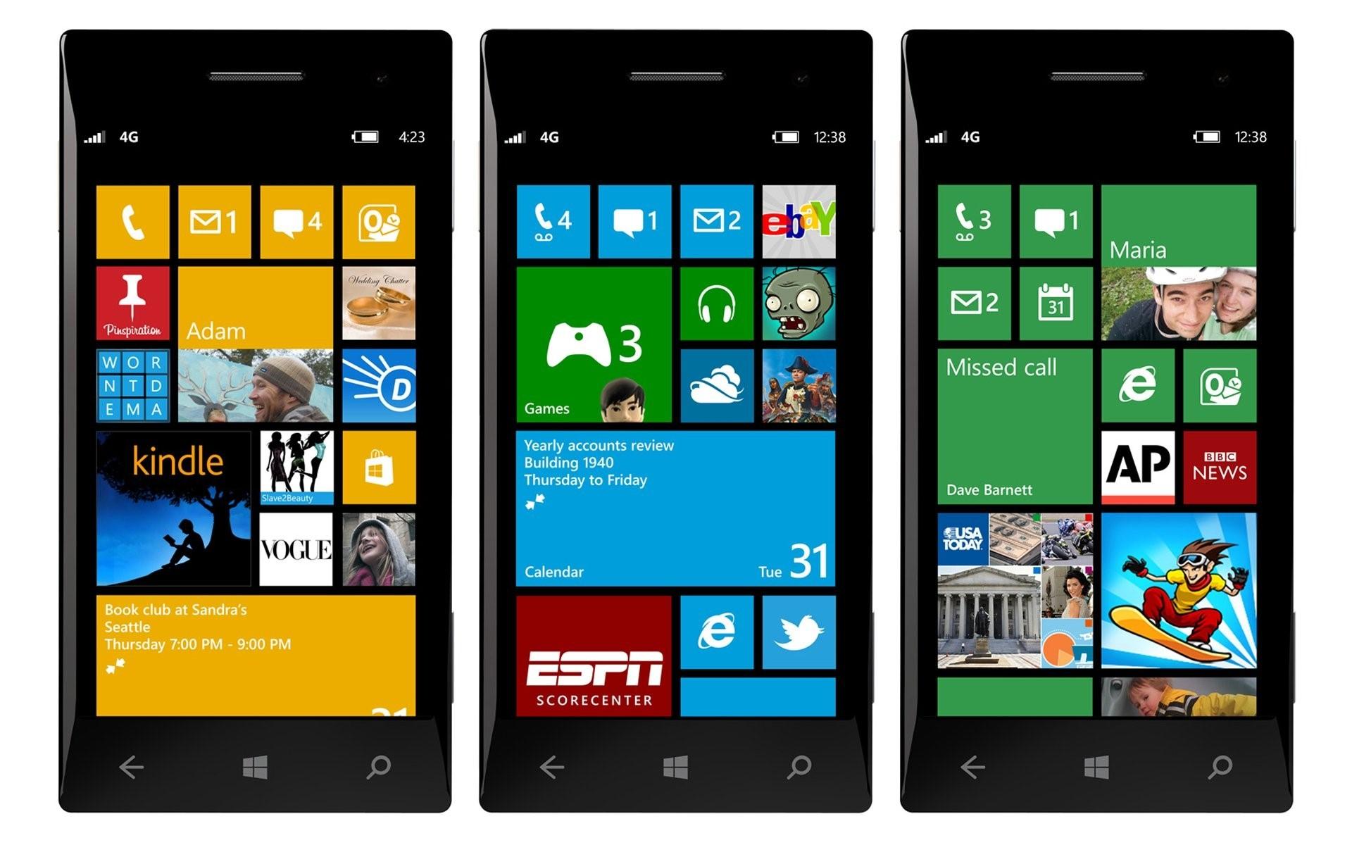 Смартфоны с ОС Windows