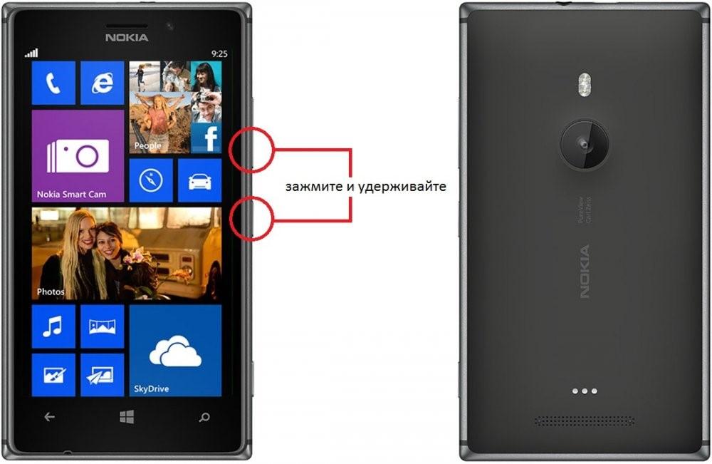Действия для сброса настроек в смартфоне с ОС Windows Phone 8
