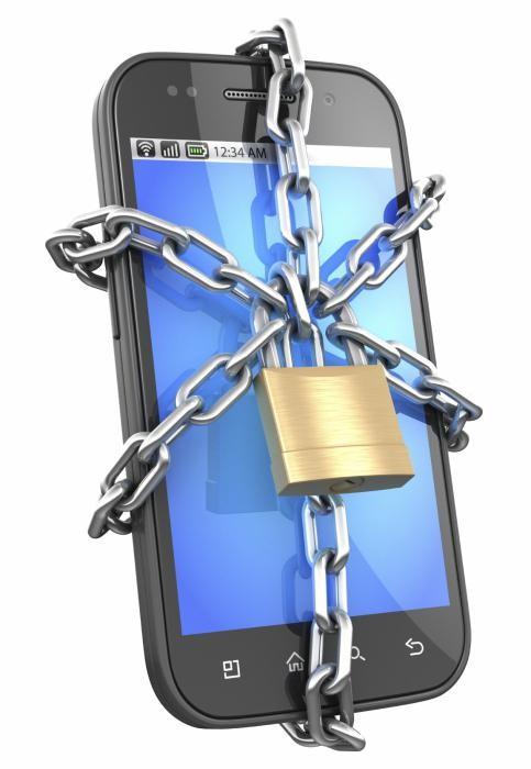 Экран смартфона заблокирован