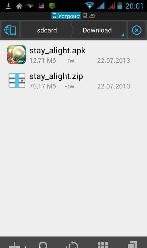 Папка «Downloads»