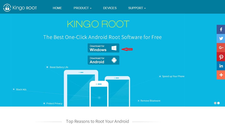 Скачивание программы Kingo root