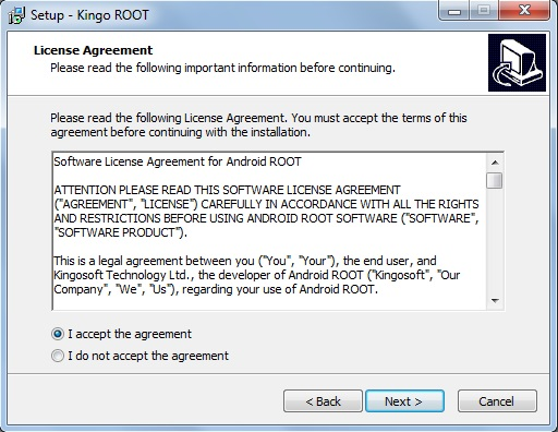 """I accept the agreement"""