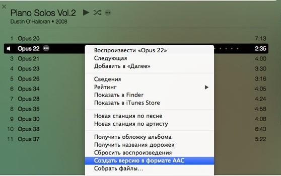 Создание файла в формате ААС