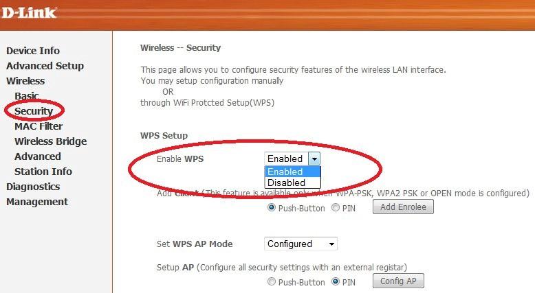 Отключиение WPS режима на оборудовании компании TP-Link