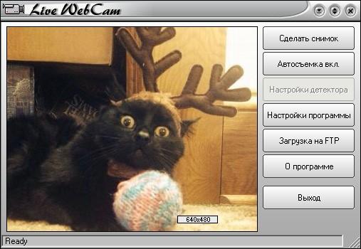 Работа с программой Live WebCam