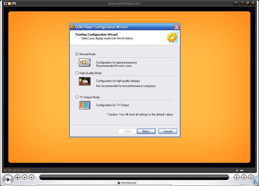 GOM Player, настройка режима экрана