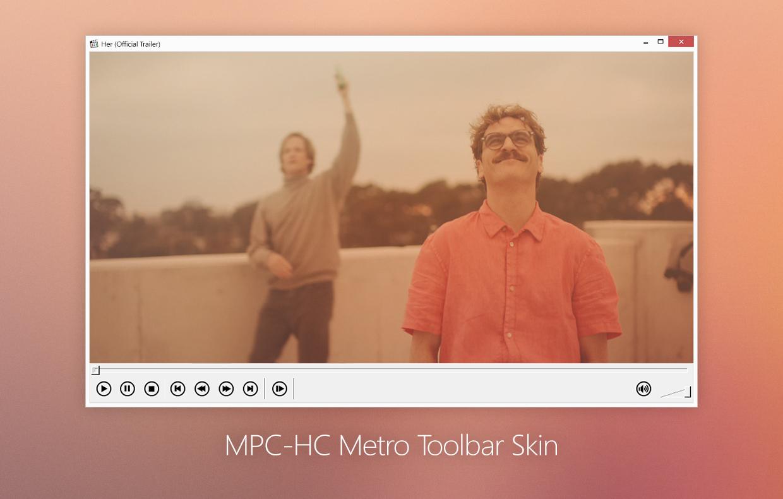 Видеоплеер MPC-HC в Metro-стиле