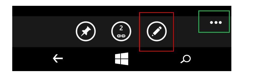 Расположение пиктограммы редактирования контакта