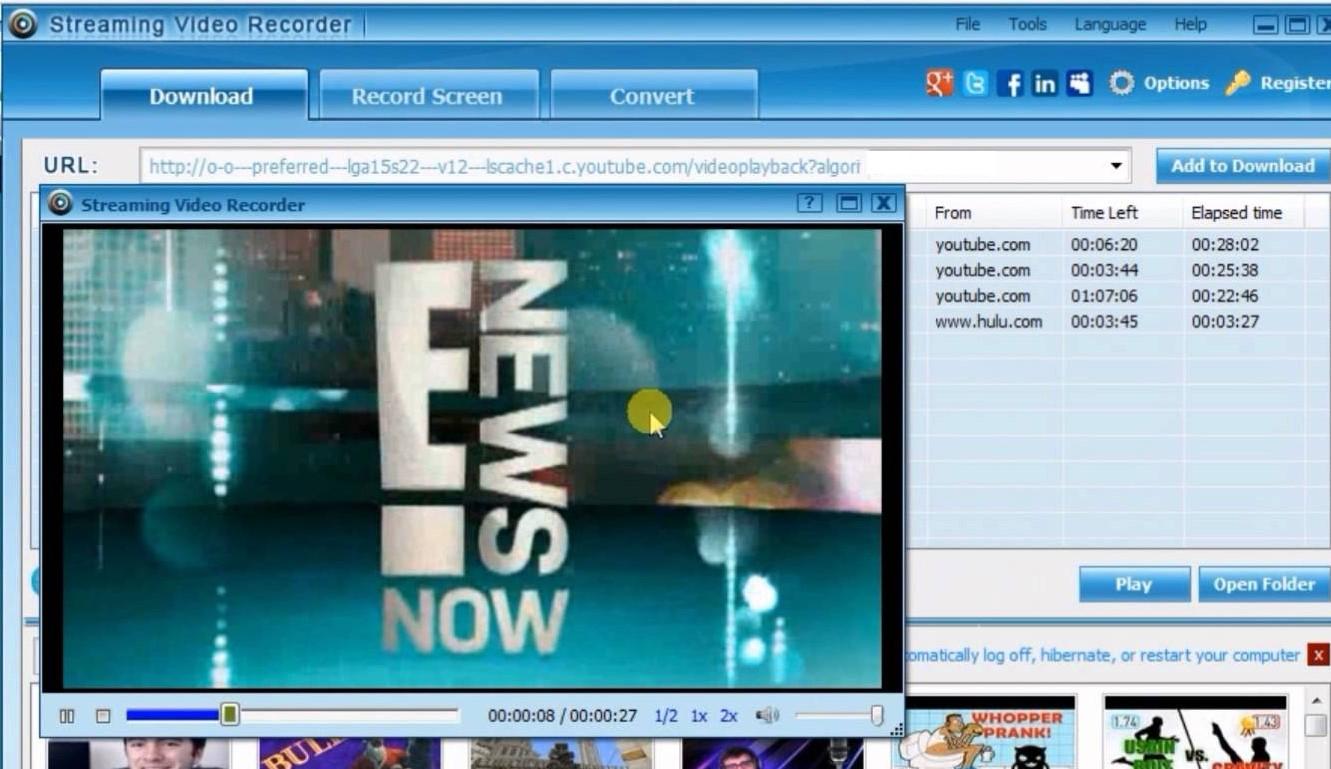 Одна из программ для захвата онлайн-видео