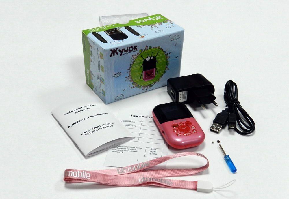 Мобильный телефон для детей «Жучок» и комплект поставки