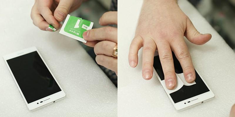 Очистка экрана смартфона