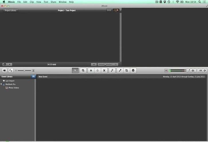 Внешний вид программы IMovie