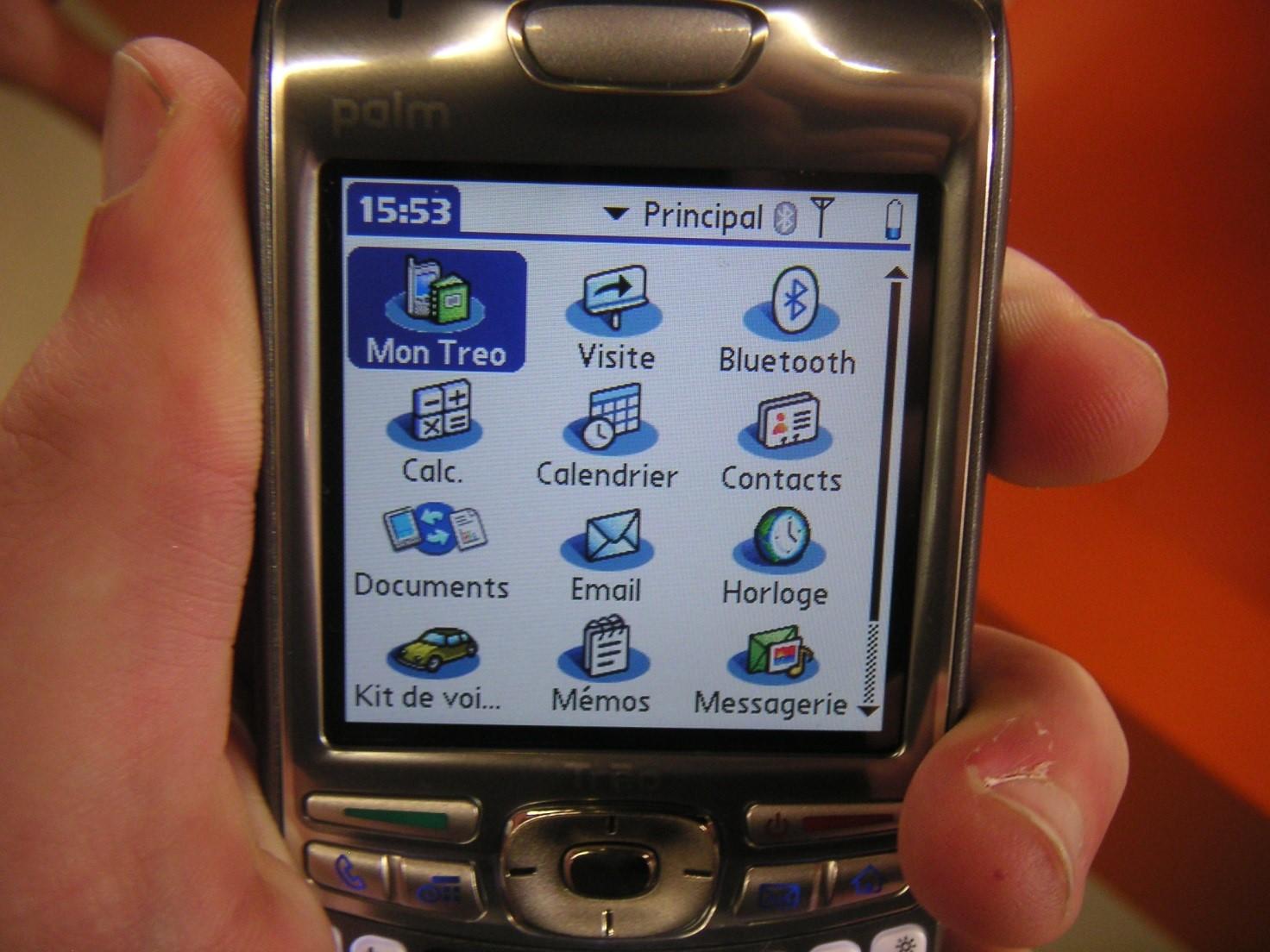 Телефон на Palm OS