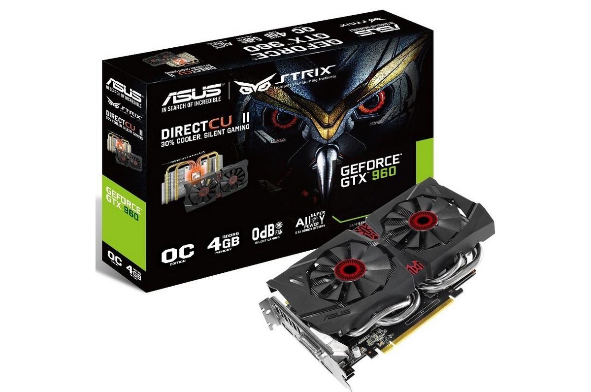Видеокарта GeForce GTX 960 с 4 Гб видеопамяти