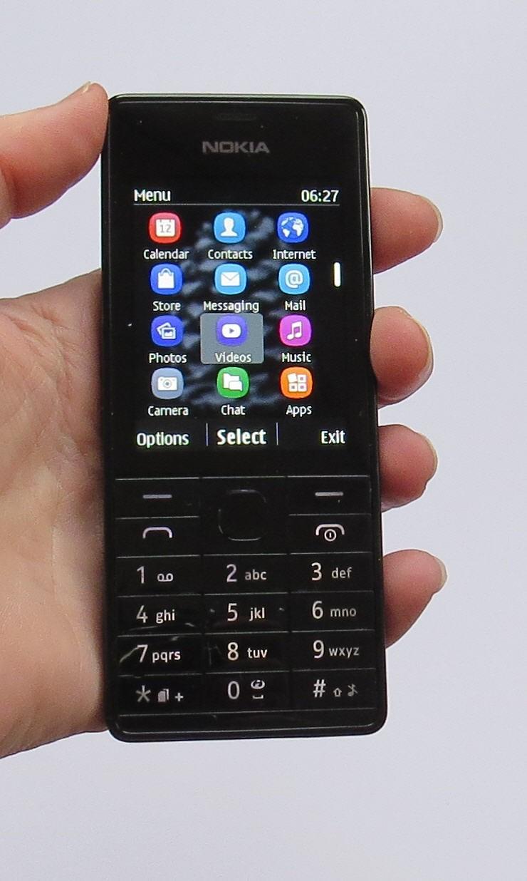 Nokia 515 в черной расцветке (черны титаниум)