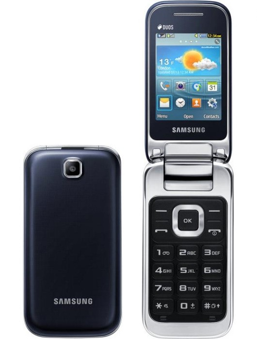 Внешний вид телефона Samsung C3592 (слева – раскладушка в закрытом виде)