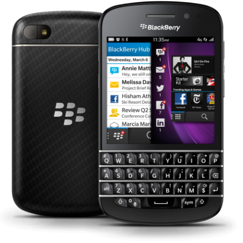 Внешний вид телефона BlackBerry Q10