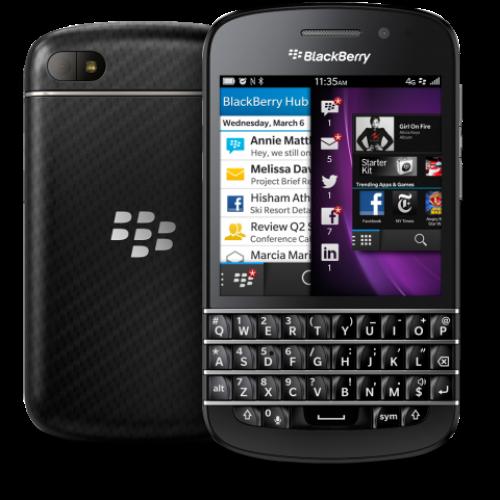 Внешний вид телефона BlackBerry Q10