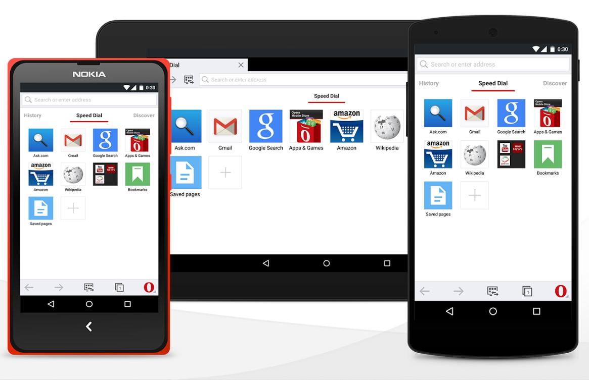 Opera Mini на любом мобильном устройстве