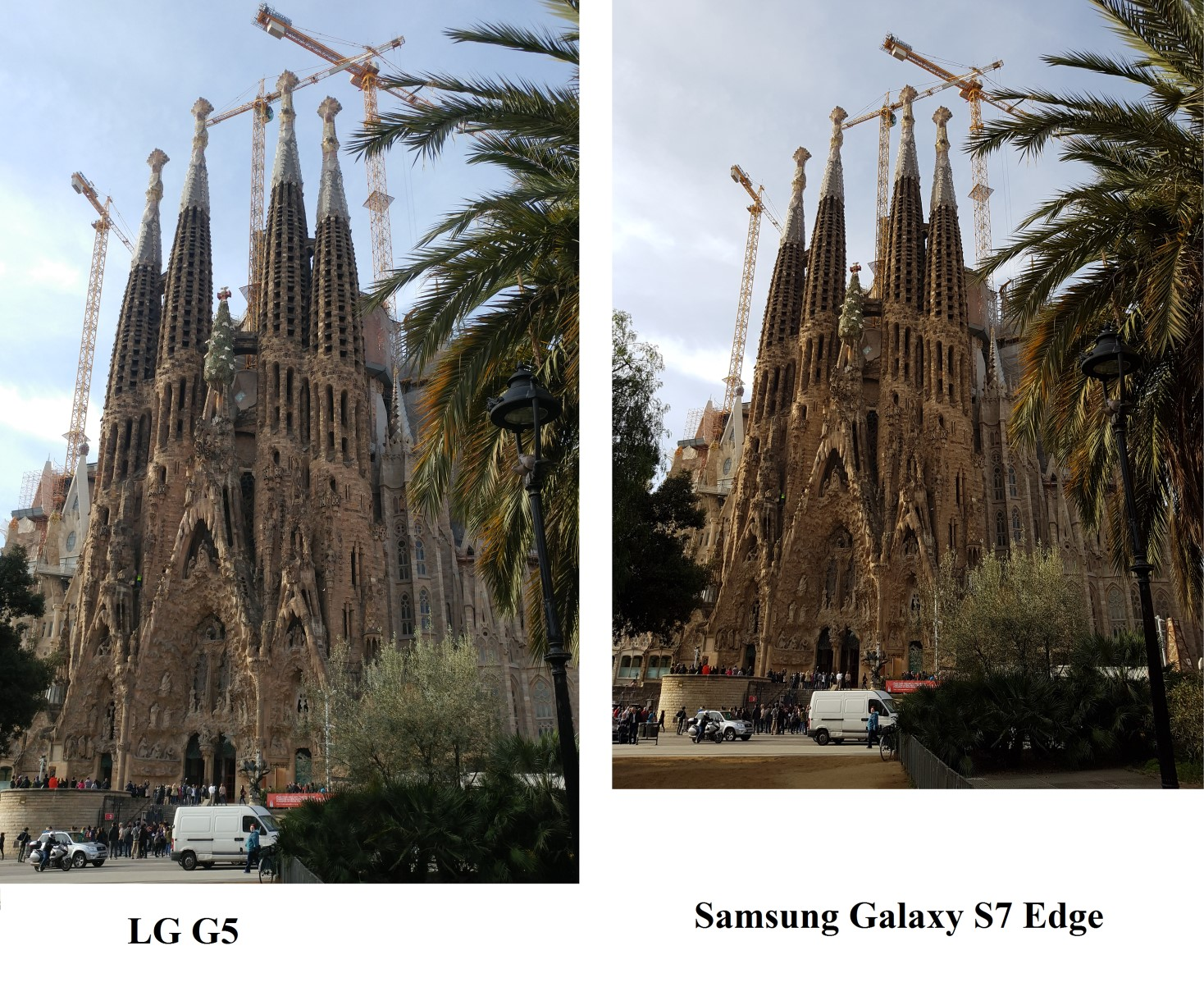 Сравнение фотографий, сделанных на LG и Samsung