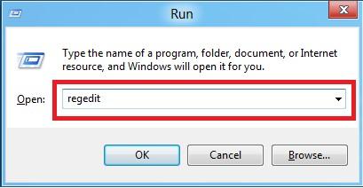 Открытый системный реестр и строка для ввода команды