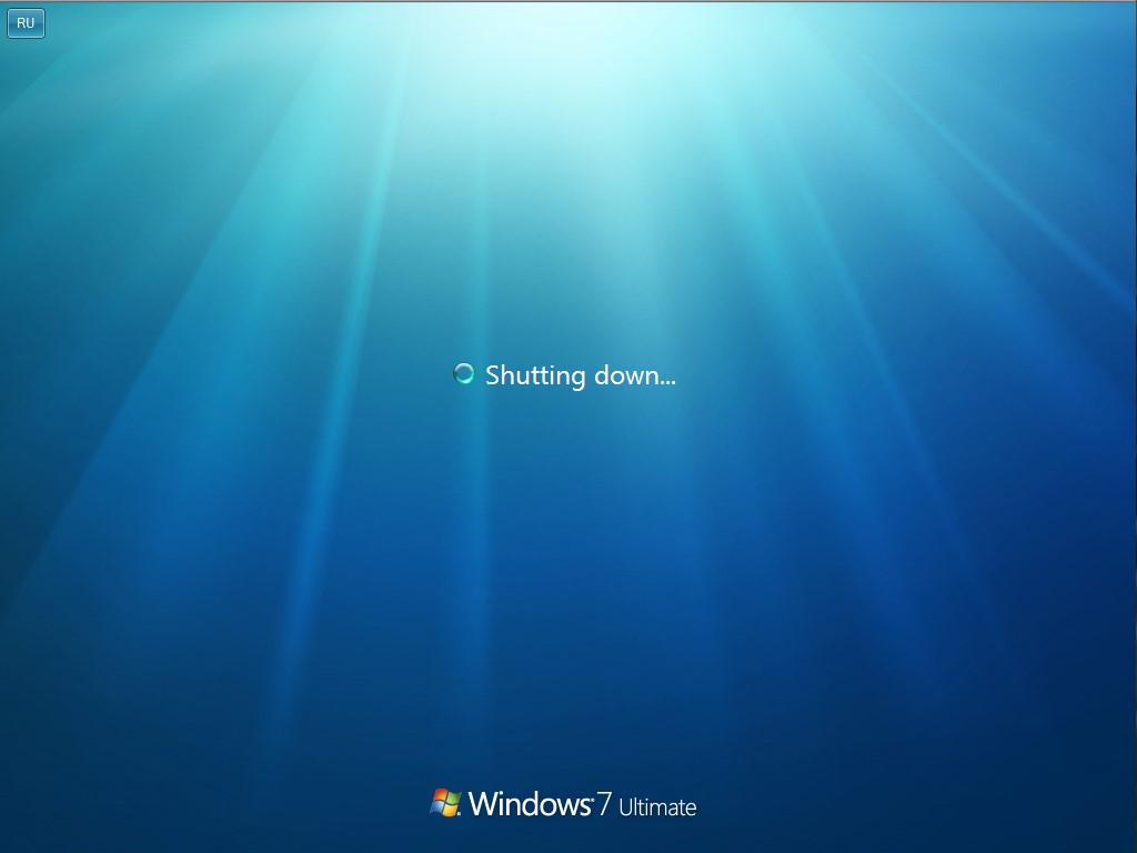 Надпись «Shutting down…» при завершении работы Windows