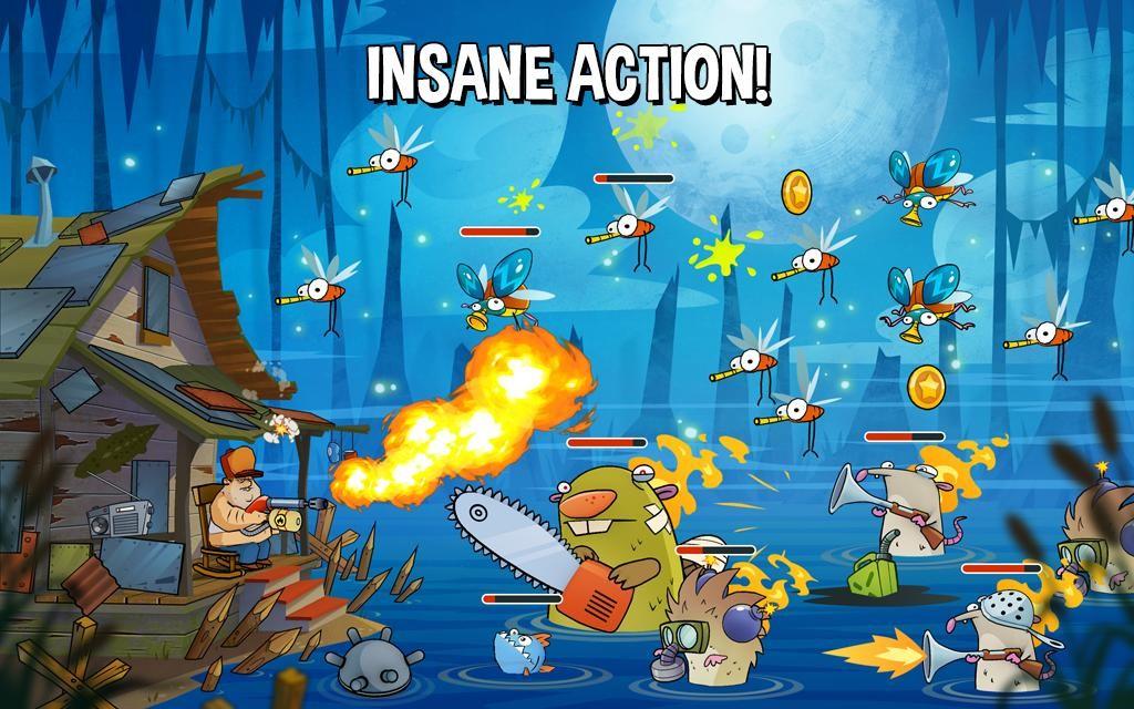 Скриншот игрового процесса Swamp Attack