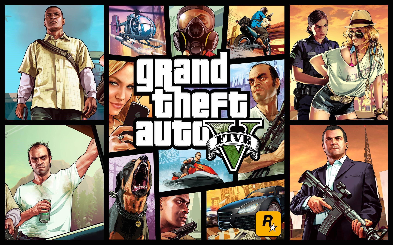 Официальная обложка игры GTA V