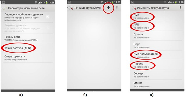 №4. Пункты меню для настройки новой точки доступа