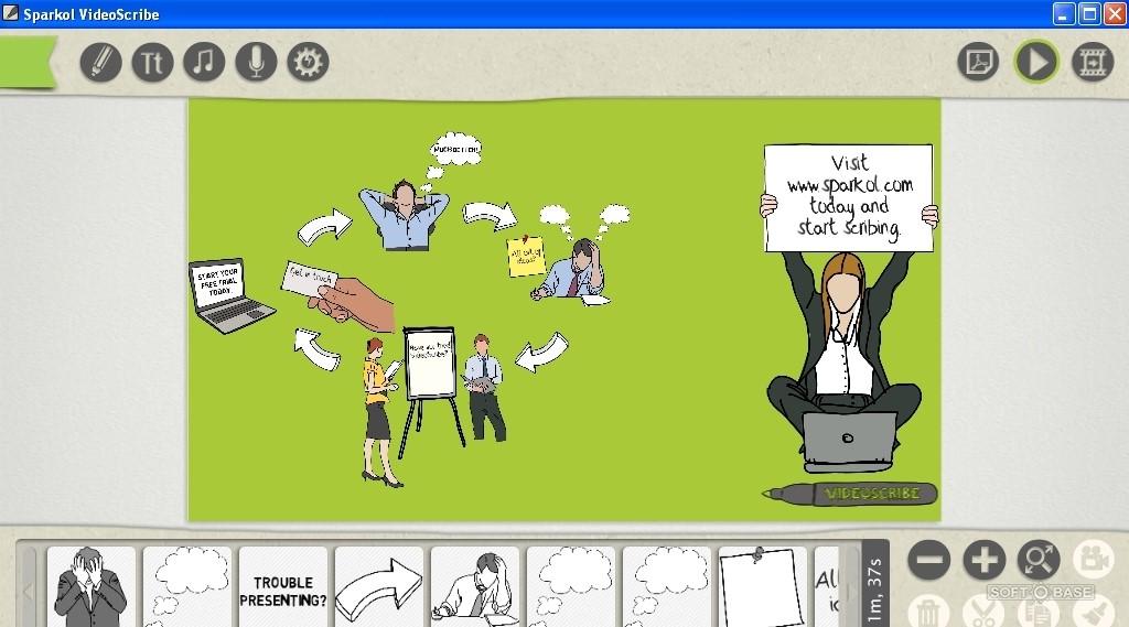 Главное окно программы VideoScribe