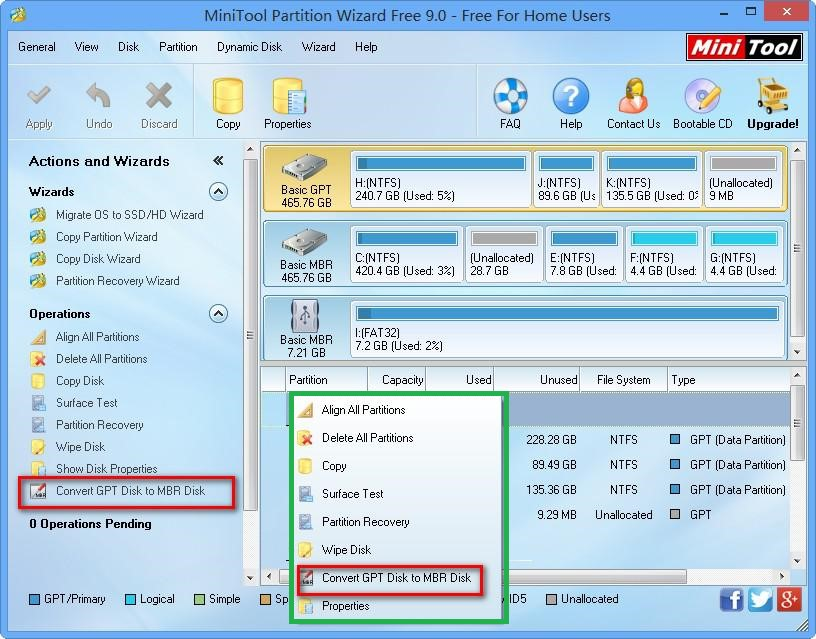 №14. Интерфейс Minitool Partition Wizard Bootable