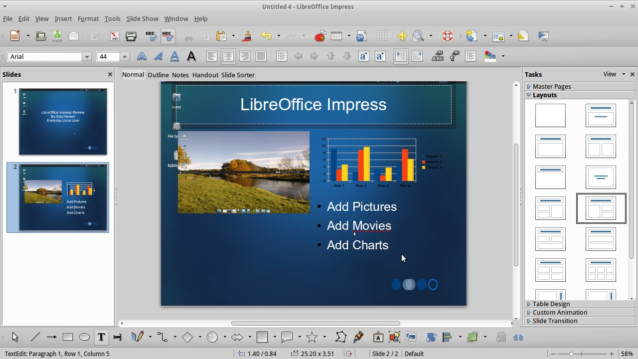 №5. LibreOffice Impress