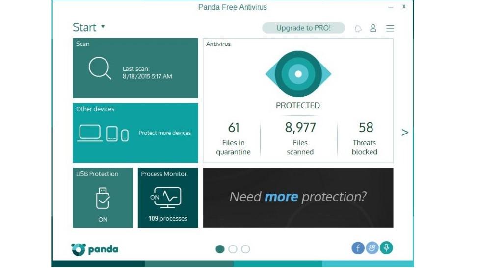 №1. Основное окно Panda Security Free Antivirus