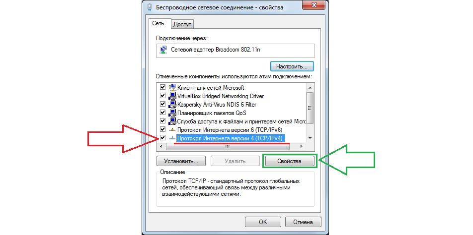 №11. Пункт IPv4 в свойствах подключения