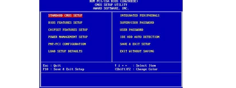 №12. Интерфейс AWARD BIOS