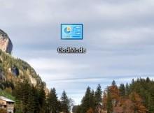 Изменённый значок папки GodMode на рабочем столе