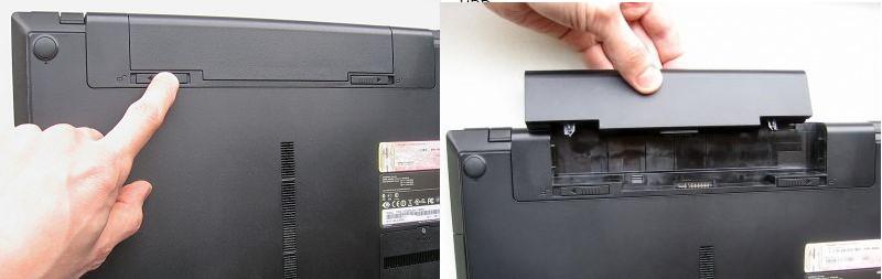 №1. Снятие аккумулятора ноутбука