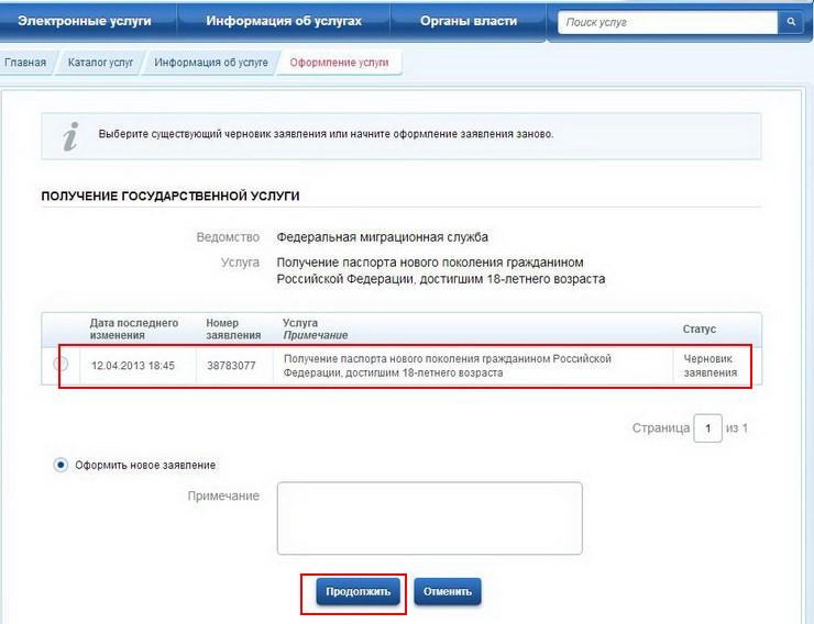 №9. Черновик заявления на получения загранпаспорта.