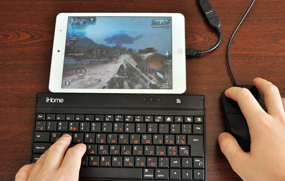 Подключение к планшету флешки и клавиатуры