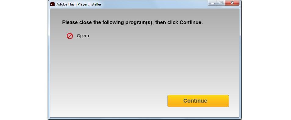№6. Предупреждение о необходимости закрыть программы, связанные с работой в сети