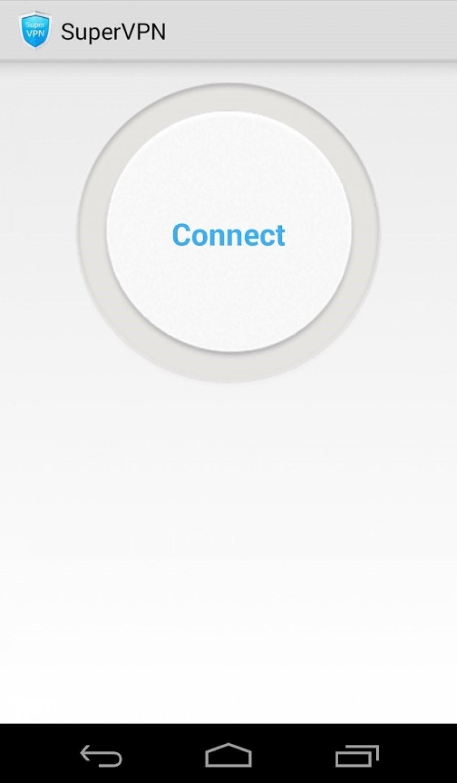 №15. Окно программы SuperVPN Free VPN Client
